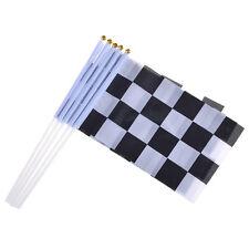 Rennsport Karo Check Flag Flagge Autorennen Hand Fahne F1 F3 GP2 MotoGP Mini 5x