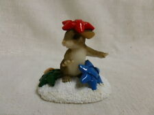 Charming Tails I'm Stuck On You 87/118 Christmas Mouse New In Box