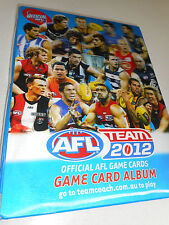 Official AFL Team 2012 Football Cards Game Card ALBUM assorted 246 Cards Total
