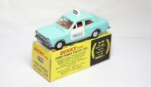 Dinky 270 Ford Escort Panda Police Car In Its Original Box - Excellent Vintage