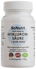 Hyaluronsäure 300 mg Tagesdosis 500-700 kDa + 100 mg Aloe Vera 60 vegane Kapseln