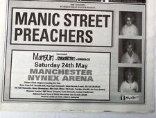 MANIC STREET PREACHERS Manchester Nynex 1997 UK Press ADVERT 12x8 inches