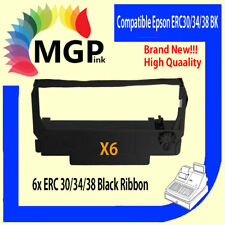 6x BLACK new Printer Ribbon for Epson ERC34 ERC38 ERC30 ERC 30 34 38 TM-U220