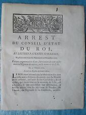 ARRÊT 1770 : FABRICATION MONNAIE DE LILLE.