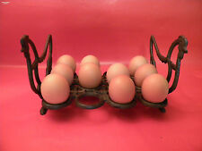 Eierständer 12 Eier Metall Guss Eisen rustikal Deko Küche Hühnerstall Osterdeko