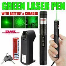 Green Light 303 Laserpointer Einstellbarer Fokus Wiederaufladbares Strahllicht