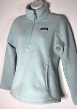 Women's Patagonia Synchilla Marsupial Fleece 1/4-Zip Light Blue Pullover Sz Xs