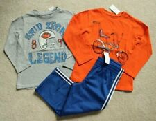 Boys Baby Gap Gray Football Orange Bicycle Graphic Shirts Blue Pants 4 4T NWT!