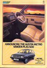 Austin Metro Vanden Plas 500 UK market 1983 sales brochure/leaflet