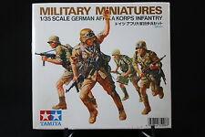 XD118 TAMIYA 1/35 maquette figurine militaire 35008 German afrika korps infantry