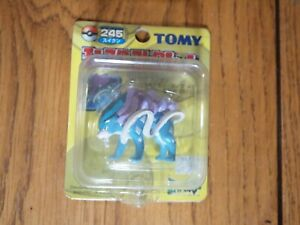 Tomy Japan issued Suicune figure, mint on sealed card