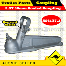 3.5T 50mm Dacromet Coated Trailer Coupling (without brake handle)