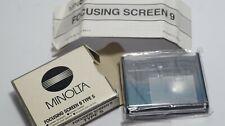 MINOLTA Focusing  Screen 9 Type S FOR Minolta Dynax 9 , Maxxum 9 Alpha 9 Unused