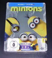 Minions Limitata steelbook Edizione blu ray Veloce Nuovo e Confezione Originale
