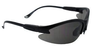 Contender Safety Glasses Smoke Lens BlackFrame Z87.1 Global Vision ICONTENSM