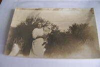 Rare Antique Vintage RPPC Real Photo Postcard Baby Child Kid Mother Holding