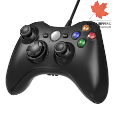 New Black Xbox 360 Wired Controller 2.4GHZ Xbox & Slim 360 PC Windows 7 8 10