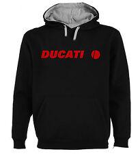 Sudadera Capucha Bicolor Ducati Circulo Moto Motor Hombre tallas colores a020