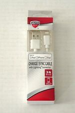 Auto Drive Charge Sync Cable 3 ft Lightning Connector iPod iPhone  NIB
