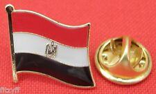 Egypt Egyptian Flag Lapel Tie Pin Badge Brooch Ǧumhūriyyat Maṣr al-ʿArabiyyah