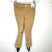 NWT TUFFRIDER Ladies 32 Front-Zip Ribbed Jodhpur Riding Pants W//Straps Light Tan