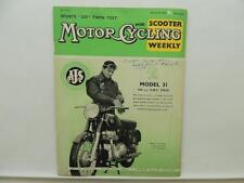 March 1959 Motorcycling Magazine Scooter AJS Model 31 Twin Sports Triumph L9809