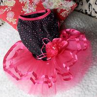 Pet Puppy Small Dog Lace Princess Tutu Dress Skirt Clothes Apparel Costume Cute