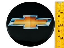 "CHEVROLET *4 x NEW* Emblems 90mm (3 1/2"") WHEEL CENTER CAP STICKERS 3D DECALS"