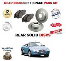 para Rover MG F Mgf 1.6 1.8 1995-2002 Juego freno disco trasero + pastillas Kit