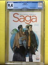 SAGA #1 - CGC 9.4 (Image, 2012) By Vaughn & Staples. White Pages