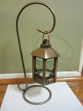 NEW COPPER HANGING CANDLE LANTERN + BASE TEALIGHT