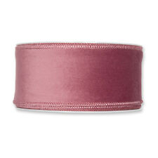 Christmas Velvet Fabric Ribbon 50mm x 8m Dusky Pink
