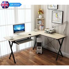 coin en bois ordinateur bureau avec amovible livre étagère Set Poste de travail