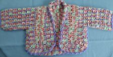 BABY HAND CROCHET JACKET MULTI COLOURED SUIT 3 TO 6  MONTH OLD (38)