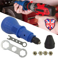 Electric Rivet Nut Gun Cordless Drill Kit Adapter Riveting Tool Insert Hand Set