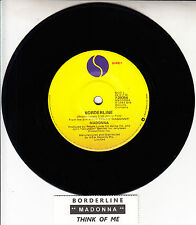 "MADONNA  Borderline  7"" 45 rpm vinyl record + juke box title strip"