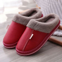 Winter Womens Mens Slippers Indoor/Outdoor Mules Plush Lined Warm House Shoes