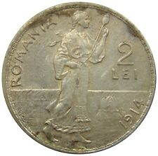 (C43) - Rumänien Romania - 2 Lei 1914 - Carol I - XF - KM# 43
