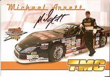 2006 MICHAEL ANNETT signed ASA LATE MODEL PHOTO CARD POSTCARD TMC wCOA nascar