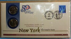 State  Washington Quarter  Set    #SWQ   First Day Issue   New York