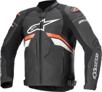 GP Plus R V3 Airflow Leather Jacket Alpinestars 56 Black/Red/White