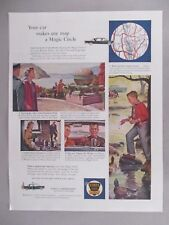 Ethyl Fuel PRINT AD - 1958 ~~ Hudson Valley, West Point, Philipse Castle