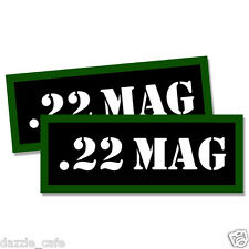 """22 MAG Ammo Can 2x Labels for Ammunition Case 3"""" x 1.15"""" stickers decals 2pack"""