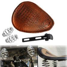Alligator Leather Solo Driver Seat Spring Bracket Kit For Harley Chopper Bobber