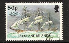 FALKLAND IS 1989 50p Ship Definitive GRACE HARWAR 1v FINE USED (No 2)