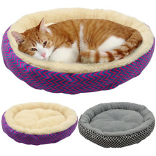 Warm Cat Bed House Round Bed Fodable Dog Sleeping Mat Pad Nest Kennel Pet