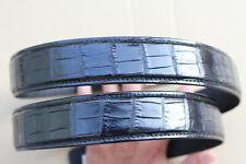 Black Genuine Alligator ,Crocodile Belly Leather Skin Men's Belt
