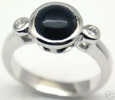 Gorgeous Woman Black Onyx Silver Ring, S 7 & 7.25, #153