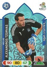 ALEXANDROS TZORVAS # GOAL STOPPER 1/81 GREECE CARD PANINI ADRENALYN EURO 2012