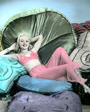 "BETTY GRABLE TIN PAN ALLEY 1940 HOLLYWOOD ACTRESS 8x10"" HAND COLOR TINTED PHOTO"